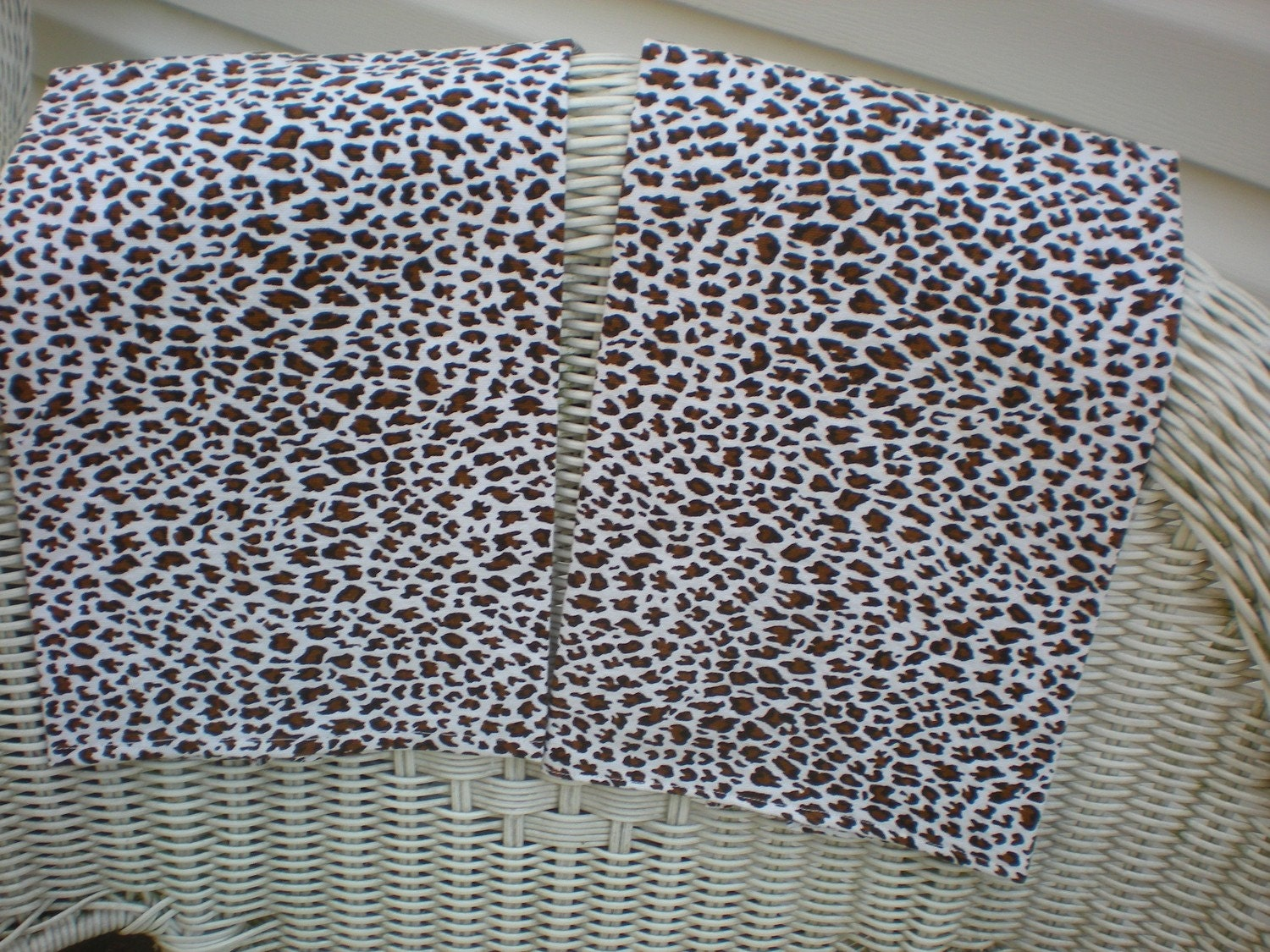 leopard print tea towels all heavy cotton kitchen by LollyLinens