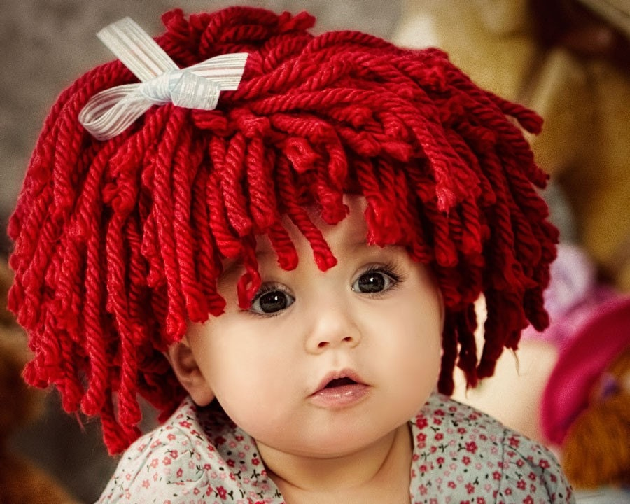 Free Crochet Baby Wig Hat Pattern : baby girl beautiful photos: Baby Girl Halloween Costumes