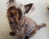 XS -S Small Dog  Brown Tweed Pullover Sweater