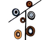 ScALes of JUstICe - Giclee - Modern Art Geometric - Circles - Urban - Mod - Minimalist - Neutral Colors - MyDifferentStrokes