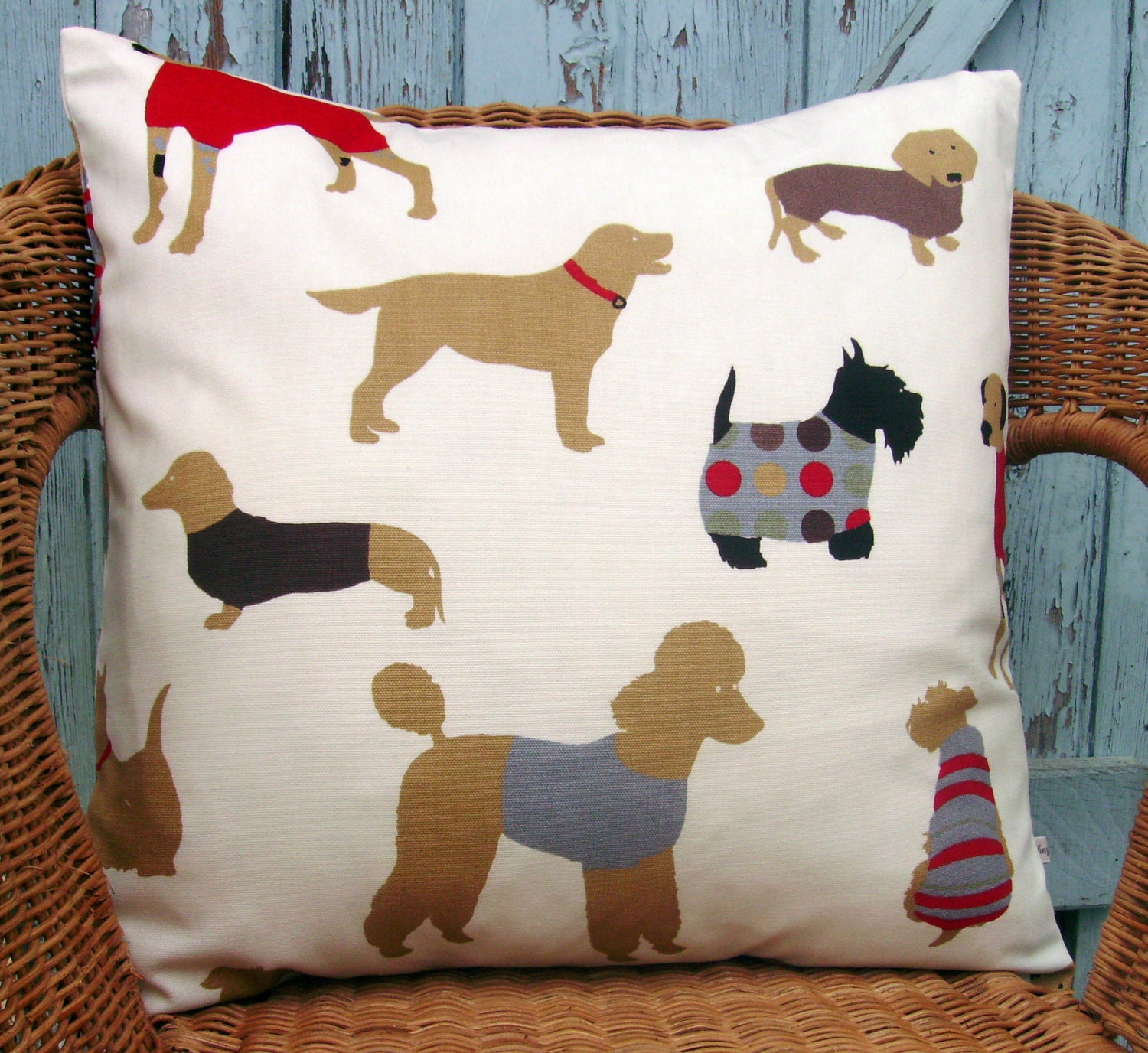 Decorative Pillow With Dog : dog pillow cover decorative pillow cover puppy by chezlele