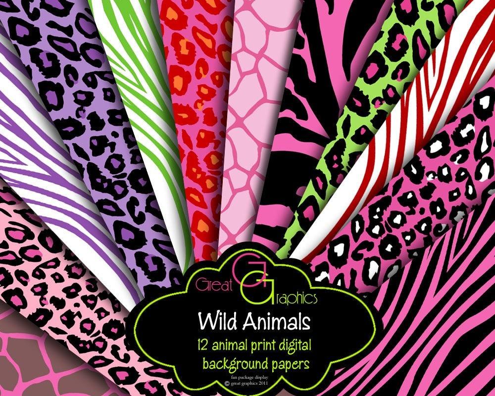 Colorful zebra print wallpaper desktop