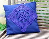 Chic Decor-Pillow cover Handmade crochet lace cushion cover