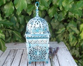 S.A.L.E- handpainted MOROCCAN LANTERN, 28 cm high, outdoor, indoor use, alfresco dining - BinkyLovecat