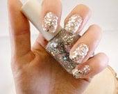Icelandic Glitter Nail Polish - Glitter Blended 3 Free Custom Nail Polish, Silver Glitter - TheMarulaTreeSoapCo