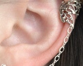 Butterfly Wing Ear Cuff - Chain to Post - SINGLE SIDE - ChapmanJewelry