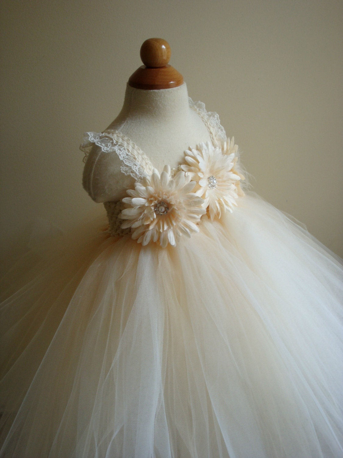 Black And Cream Flower Girl Dresses