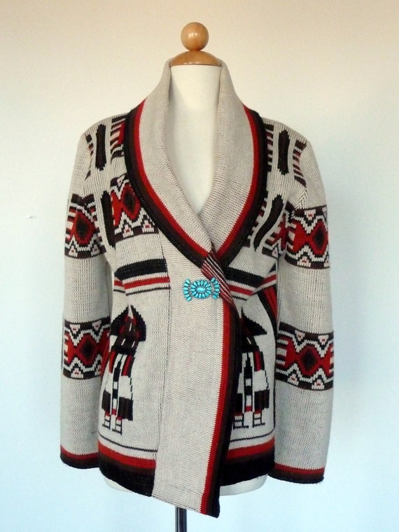 TAOS SOUTHWEST SWEATER wms M