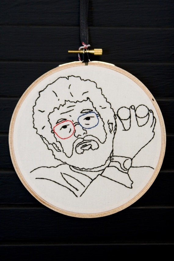 Dr Jacoby Twin Peaks Hand Embroidered Wall Art.