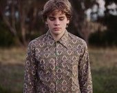 Brown and Green Paisley Patterned Shirt - luddenhamcollective
