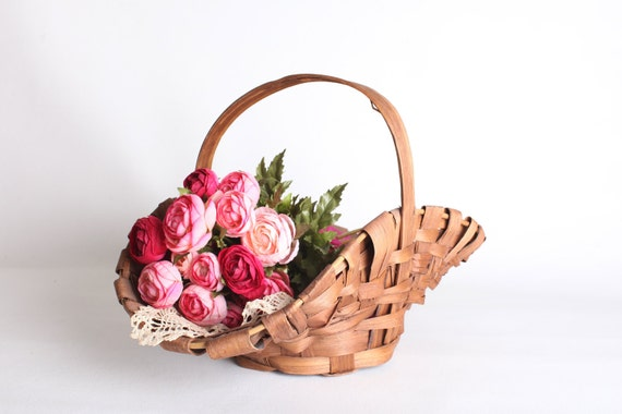 Woven Wicker basket for flowers