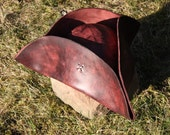 Pirate tricorn leather hat - akinraworkshop