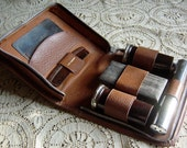 Antique Vintage 1930s 1940s Mens English Toiletries Travel Grooming Case - Retromagination