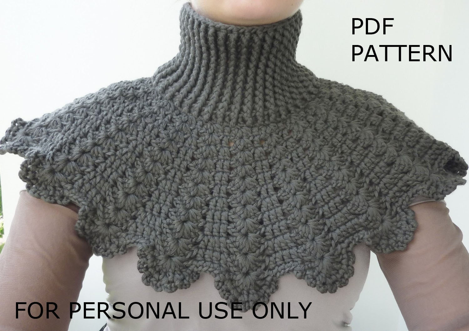 Crochet Cowl PATTERN  PDF format Pattern  Scarf Pattern  Neck  Neck Scarves Crochet Patterns