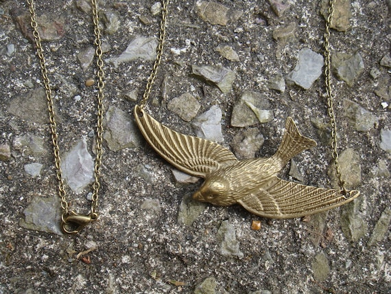 songbird necklace, extra long chain