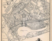 Vintage Map of the Pentagon Building and Environs - December 1942 - Great Piece of History - SpecialThingsShop