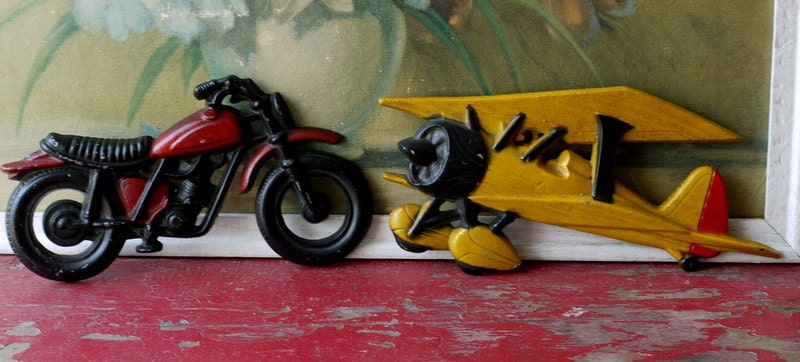 Vintage 1960's Boys Room Metal Wall Decor by ValsVintageShoppe