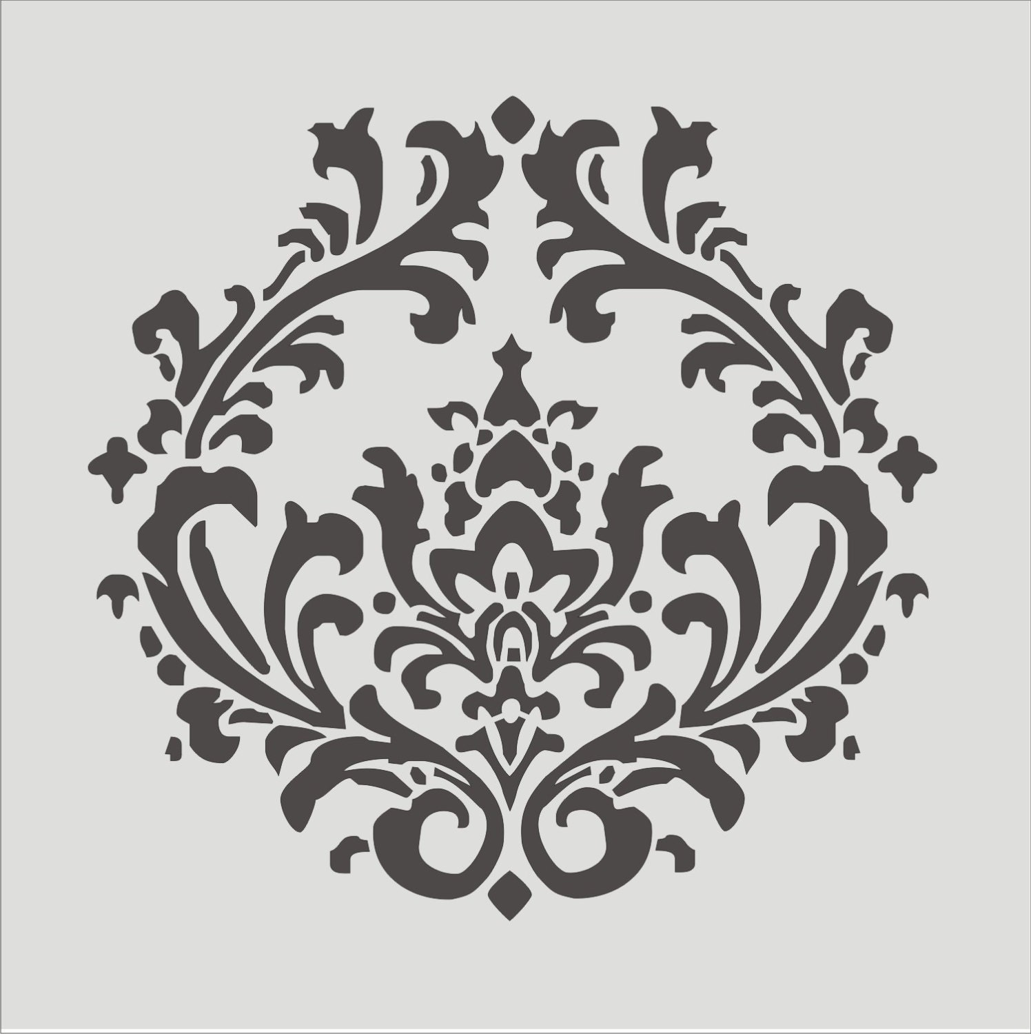 Images of stencil damask wall stencils sc damask stencil pattern amipublicfo Choice Image
