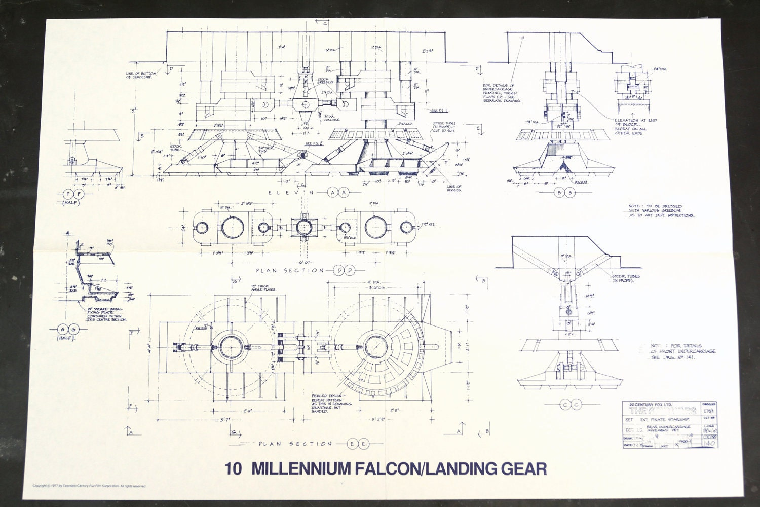 Vintage Star Wars Blueprint for Millennium Falcon / by ThirdShift