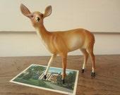 Cake topper.  Vintage plastic deer. - ModelVintage