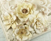 Paper Flowers embellishment vintage - Eminence Collection - Mulberry Paper Flowers  546205 - isakayboutique
