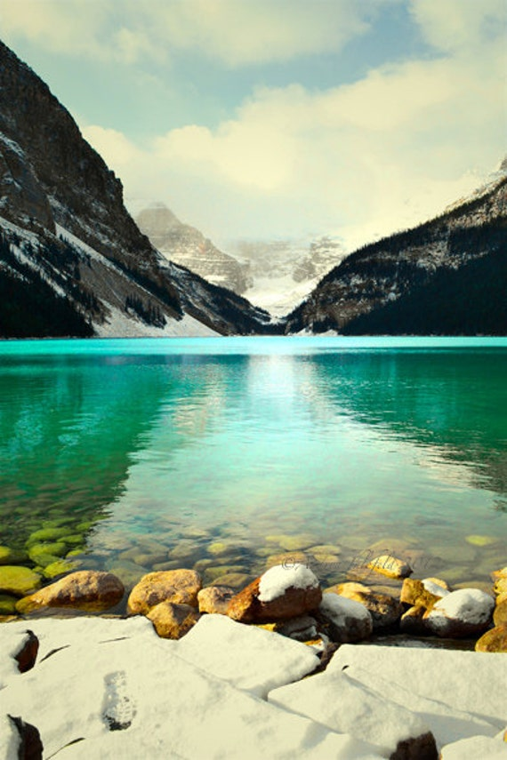 Lake Louise Photography Print 11x14 Fine Art Banff Canadian Rockies Wildernes Mountains Photography Print.