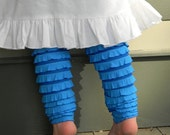 Girl's Ruffle Leggings Size 1 to 6 Blue Belle Ruffle Leggings Other Colors Available - SouthernSeamsKids