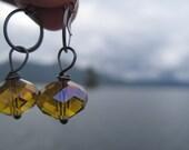Mustard earrings - natureofart