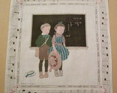 Antique B. Cory Teach-er Says Children Handkerchief - murdups