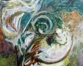 Listen . . . an Original Painting by Ericka O'Rourke - TierraSky