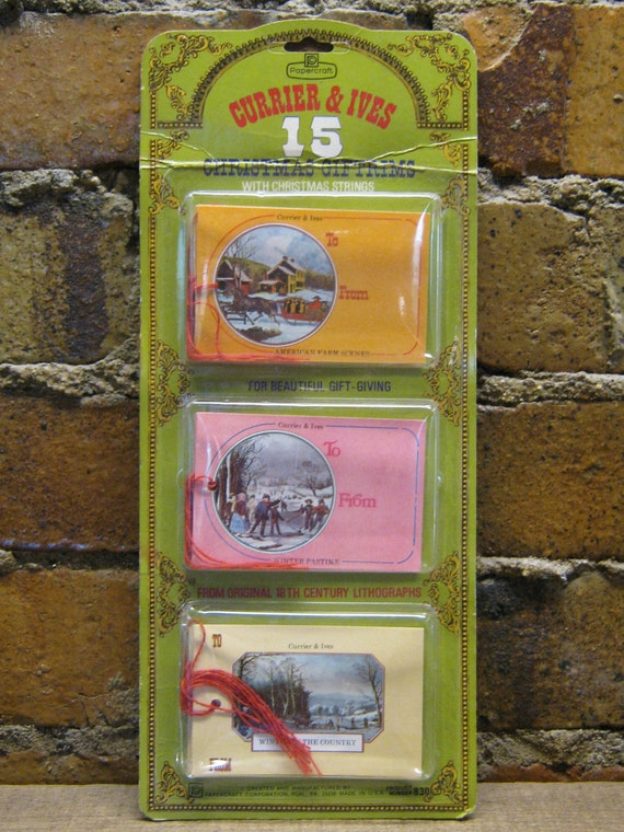 SALE Christmas Gift Tags Currier and Ives