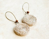 Woodland jewelry - Hemp earrings rustic jewelry - Lepun