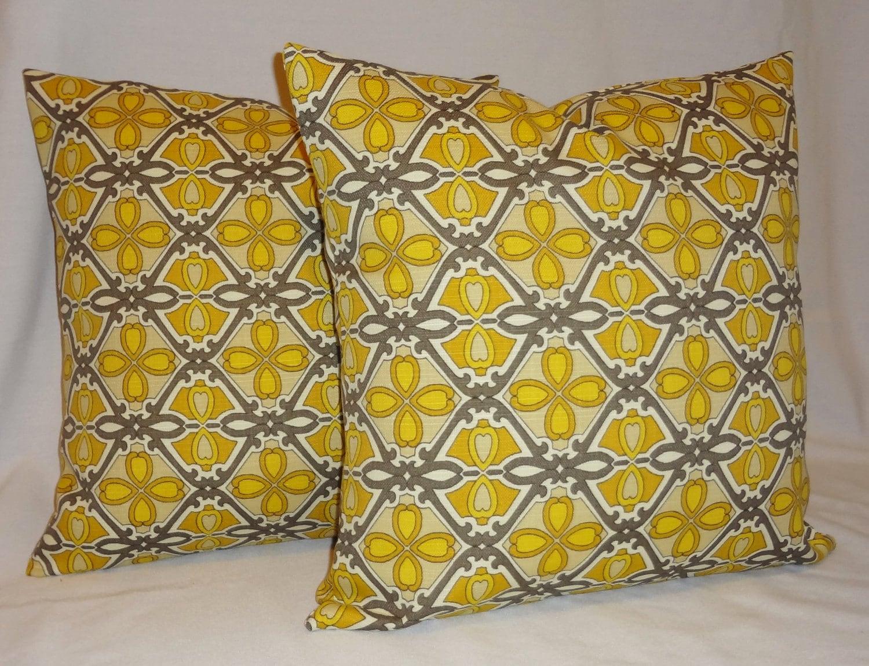OUTDOOR Two Yellow U0026 Grey Geometric Indoor/Outdoor By HomeLiving