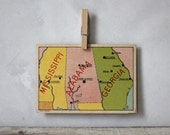 Vintage State Card : Mississippi, Alabama & Georgia - jerseyicecreamco