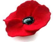 Red Poppy Corsage