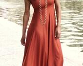 Rust Ohlson Maxi Dress - Dimiloc