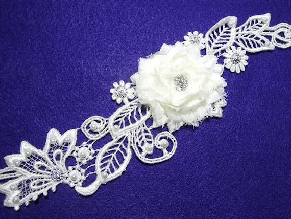 Bridal Garter, Garter Set, Wedding Garter, Garter Belt, Vintage Inspired Ivory Bridal Lace, Pearls and Rhinestones