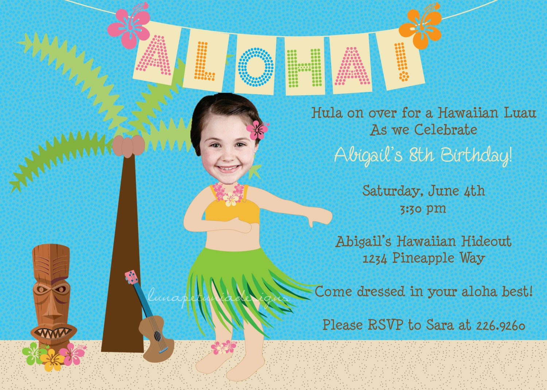 Hawaiian Luau Birthday Invitation Wording Cards Invitations – Hawaiian Party Invitation Wording