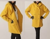 Immediate shipping Hoodie coat/ Hoodie jacket /winter wool coat/outerwear/yellow jacket/mustard Hooded women FM061 - FM908