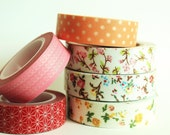 Choose Any 3 Washi/ Oil Paper Tapes and 3 Fabric Tapes at 15% off - mooseart