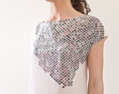 PARTICLE. Hand painted Silk Blouse - CONIMATTA