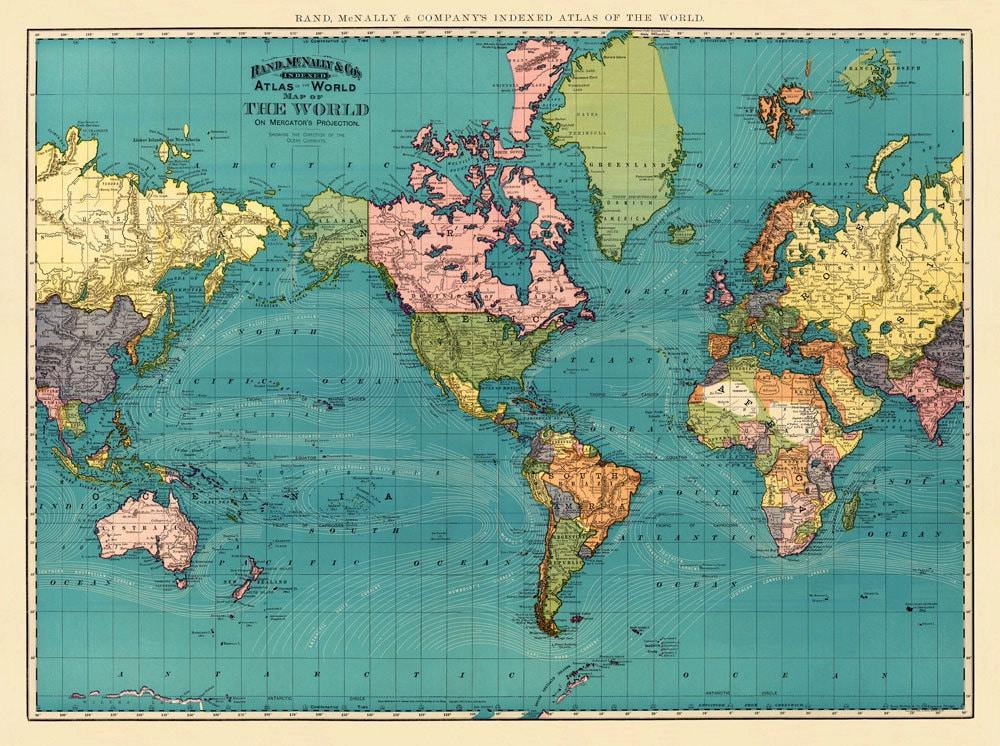 Vintage World Maps 119
