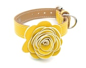 The Flower Child Dog Collar - Sunshine Yellow - LuxeMutt