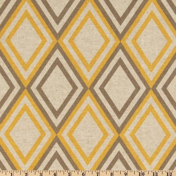 30% OFF - Use Coupon Code THIRTY at checkout - Premier Prints - Annie - Yellow/Kelp - 1 Yard
