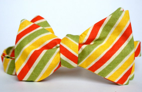 Fruit Stripe Men's Bow Tie