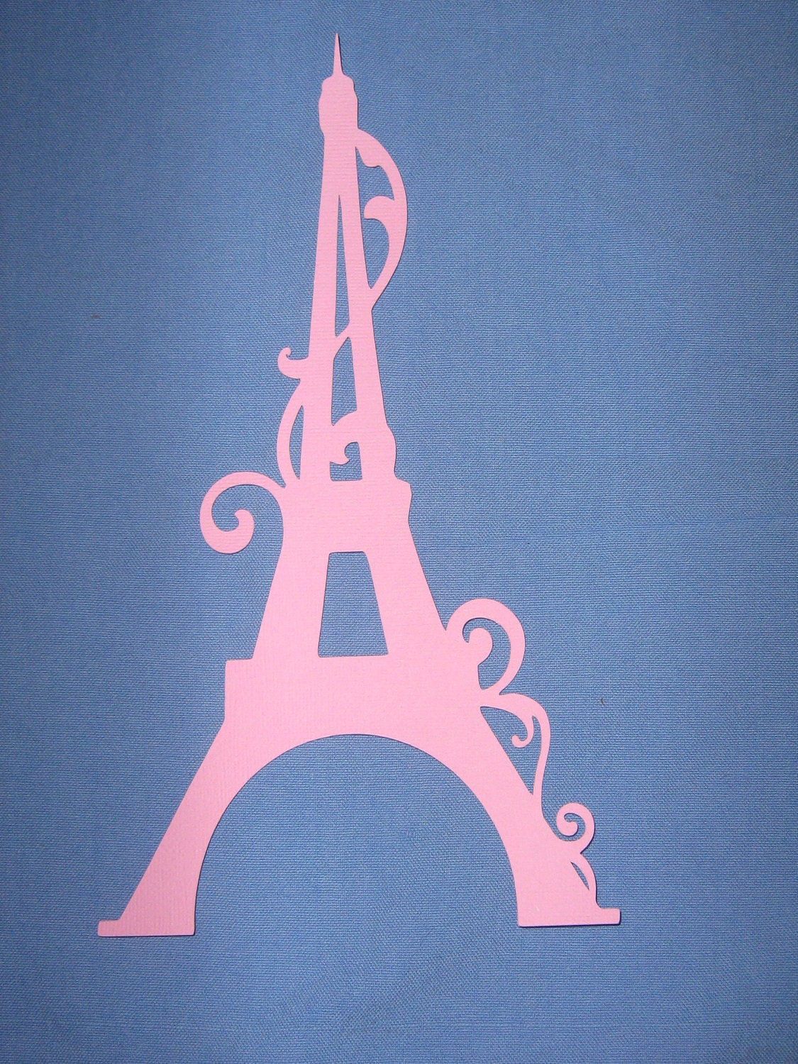 Ornate Eiffel tower for birthdays bridal by ThePaperdollPrincess