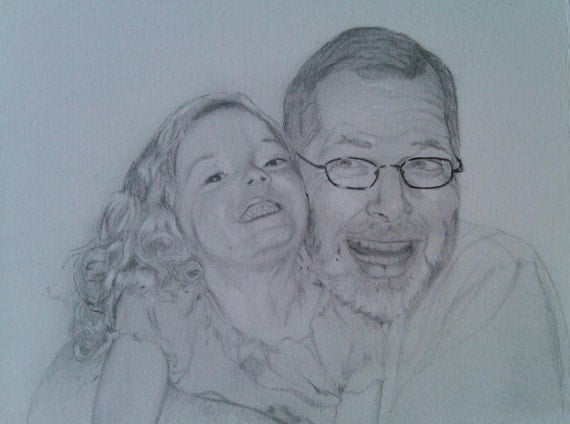 Great for Father's Day- Custom Graphite Portrait 5x7