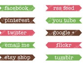 Blog Buttons: Mix & Match Your Blog Design With 10 Social Media Buttons