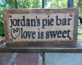 Custom DESSERT BAR wedding sign decoration reception table Bride and Groom WEDDING 7x14
