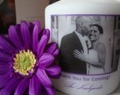 Photo Wedding Favor Candles